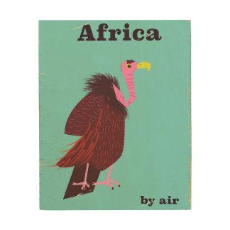 Africa Vulture vintage air travel poster