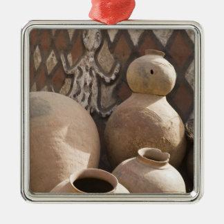 Africa, West Africa, Ghana, Sirigu. Handcrafted 2 Christmas Ornament