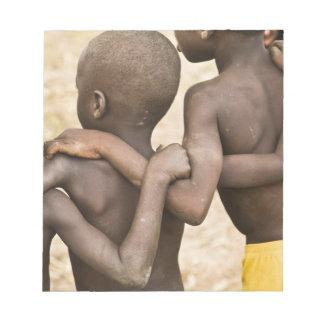 Africa, West Africa, Ghana, Yendi. Close-up shot Notepad