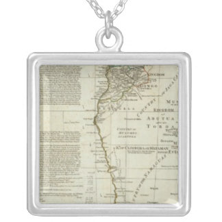 Africa, with all its states, kingdoms silver plated necklace