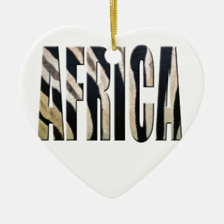 Africa with Zebra stripes Christmas Ornament