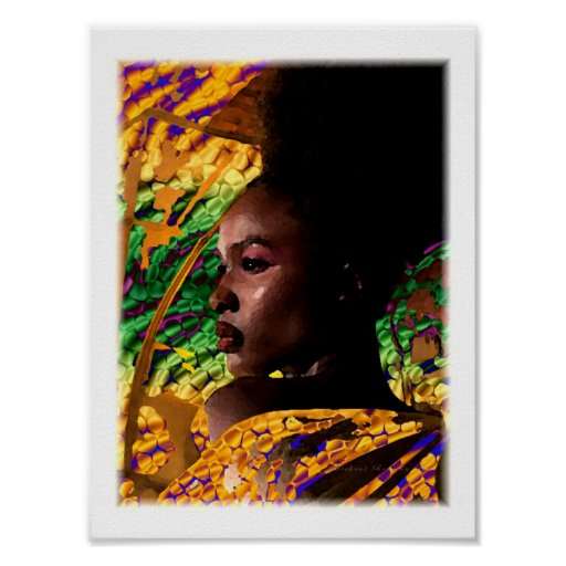 Africa Woman Poster