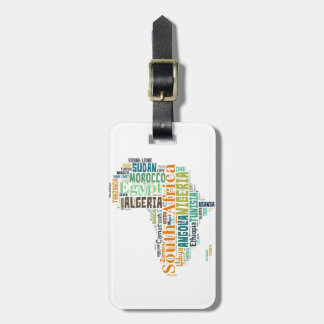 Africa Word Art Luggage Tag