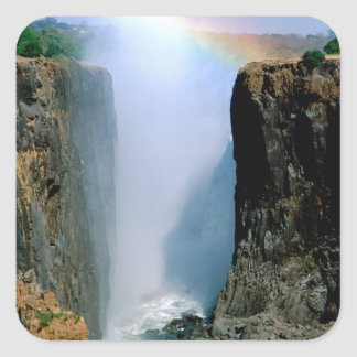 Africa, Zambia, Victoria Falls National Park. Square Sticker