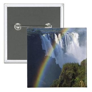 Africa, Zimbabwe, Victoria Falls 15 Cm Square Badge