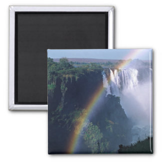 Africa, Zimbabwe. Victoria Falls Square Magnet