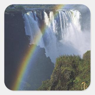 Africa, Zimbabwe, Victoria Falls Square Sticker