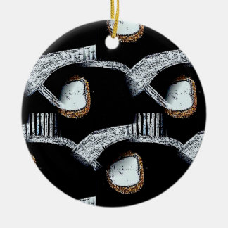 African Abstract Round Hanging Ornament