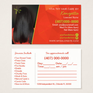 African Ameri Hair Salon Business Card Template
