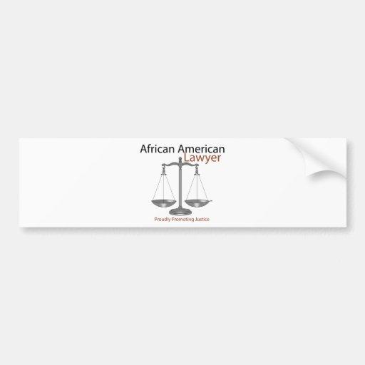 African America Lawyer Bumper Sticker