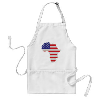 African American Africa United States Flag Apron