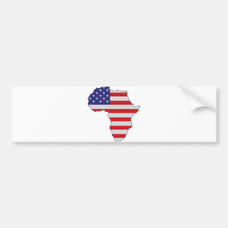 African American Africa United States Flag Bumper Sticker