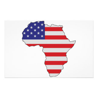 African American Africa United States Flag Stationery Paper