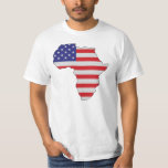 African American Africa United States Flag Tshirts