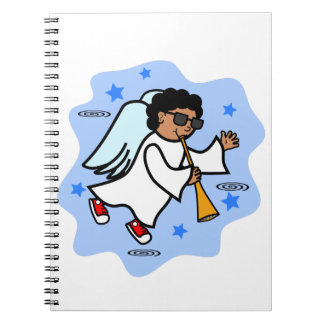 African American Angel Boy with Horn Notebooks