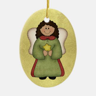 African American Angel Christmas Ornament