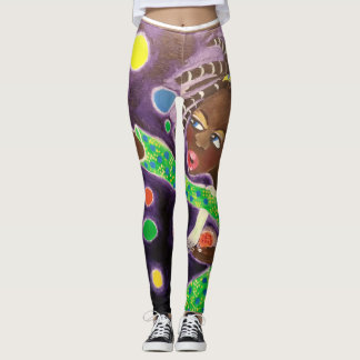African American Angel Leggings Pants