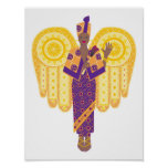 African American Angel Poster