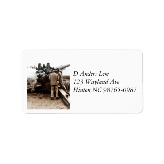African American Artillerymen WWII Address Label