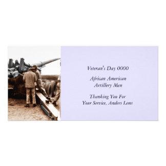 African American Artillerymen WWII Photo Card Template