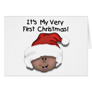 African American Baby 1st Christmas Card