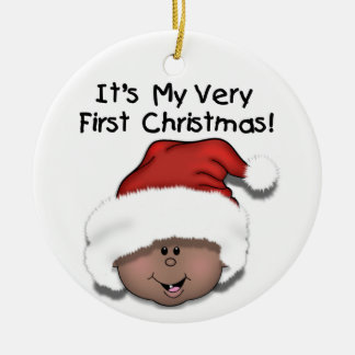 African American Baby 1st Christmas Ornament