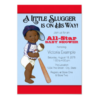 African American Baby Boy Shower Personalized Invitation