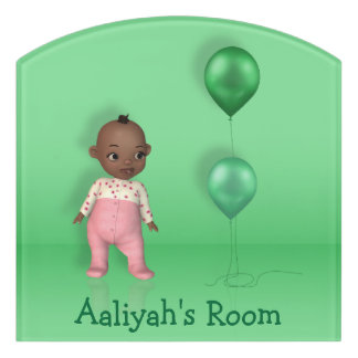 African American Baby Girl Name This! - Room Sign Door Sign