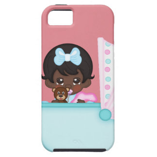 African American Baby Girl Pink Carriage Case For The iPhone 5