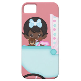 African American Baby Girl Pink Carriage iPhone 5 Case