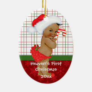 African American Baby Gir's First Christmas Orname Christmas Ornament