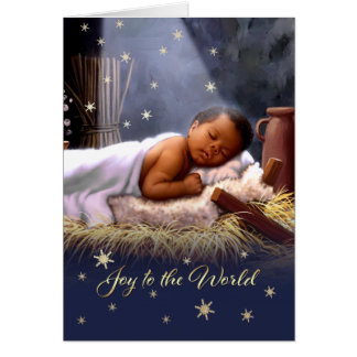 African American Baby Jesus Christmas Cards