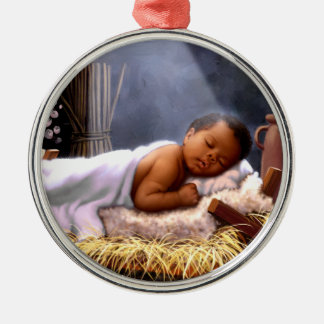 African American Baby Jesus Christmas Ornaments
