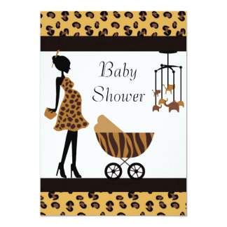 African American Baby Shower Invitation Safari