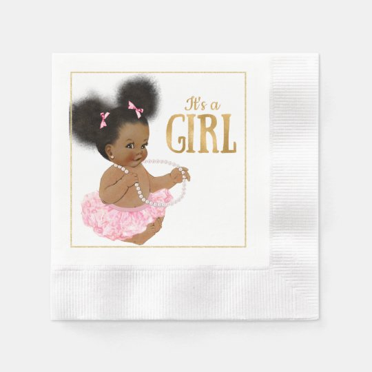 African American Baby Shower Paper Napkins