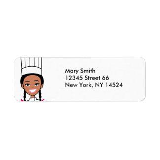 African American Baker Address Labels