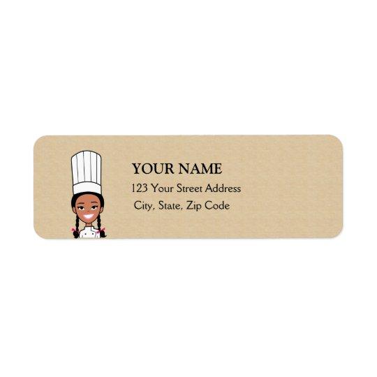 African American Baker Return Address Label