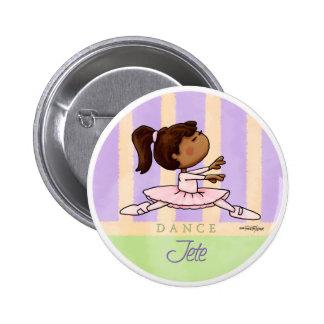 African American Ballerina Dancer Button