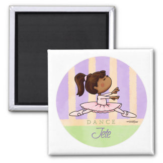 African American Ballerina Dancer Fridge Magnets