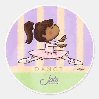 African American Ballerina Dancer Round Stickers