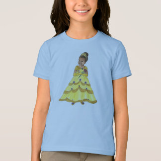 African American Beauty Princess ringer tshirt
