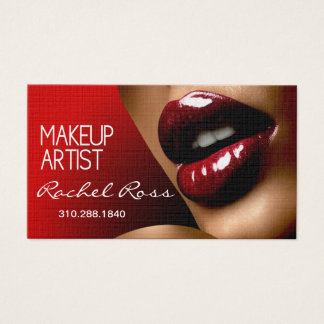African American Big Glossy Lips | red