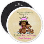 African American Big Sis of Twins 6 Cm Round Badge