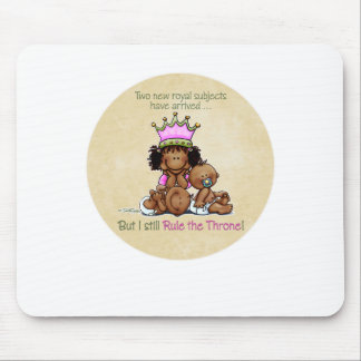 African American Big Sis of Twins Mouse Pad