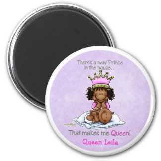 African American Big Sister of Prince 6 Cm Round Magnet
