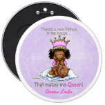 African American Big Sister of Prince Pinback Buttons