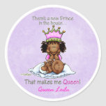African American Big Sister of Prince Round Stickers