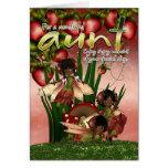 African American Birthday Card - Aunt - Moonies Cu