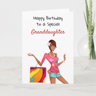 African American Birthday Card For Granddaughter