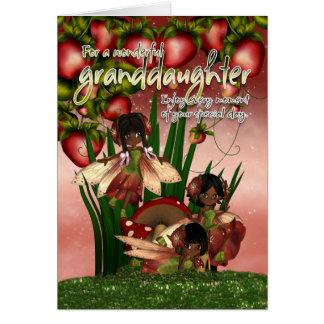 African American Birthday Card - Granddaughter - M